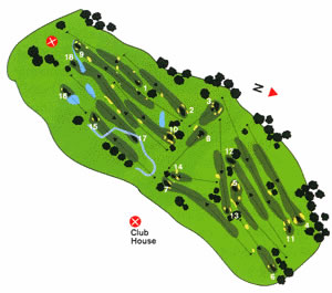 Course Map Oporto Golf Club